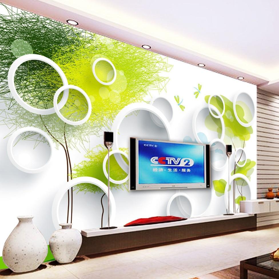 Custom Photo Wallpaper Abstract Tree 3D Circles Living Room Sofa TV Background Wall Paper Modern Art Painting 3D Mural Wallpaper