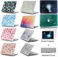 Flower Pattern Shell Case Laptop Protector For Mac book 11 12 13.3 15.4 inch For Apple macbook 11 12 13 15 Air Pro with Retina