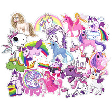 30PCS Unicorn Series Sticker Set Cartoon Stickers For Children Bicycle Fridge Laptop Kid Toy Anime Little Pony