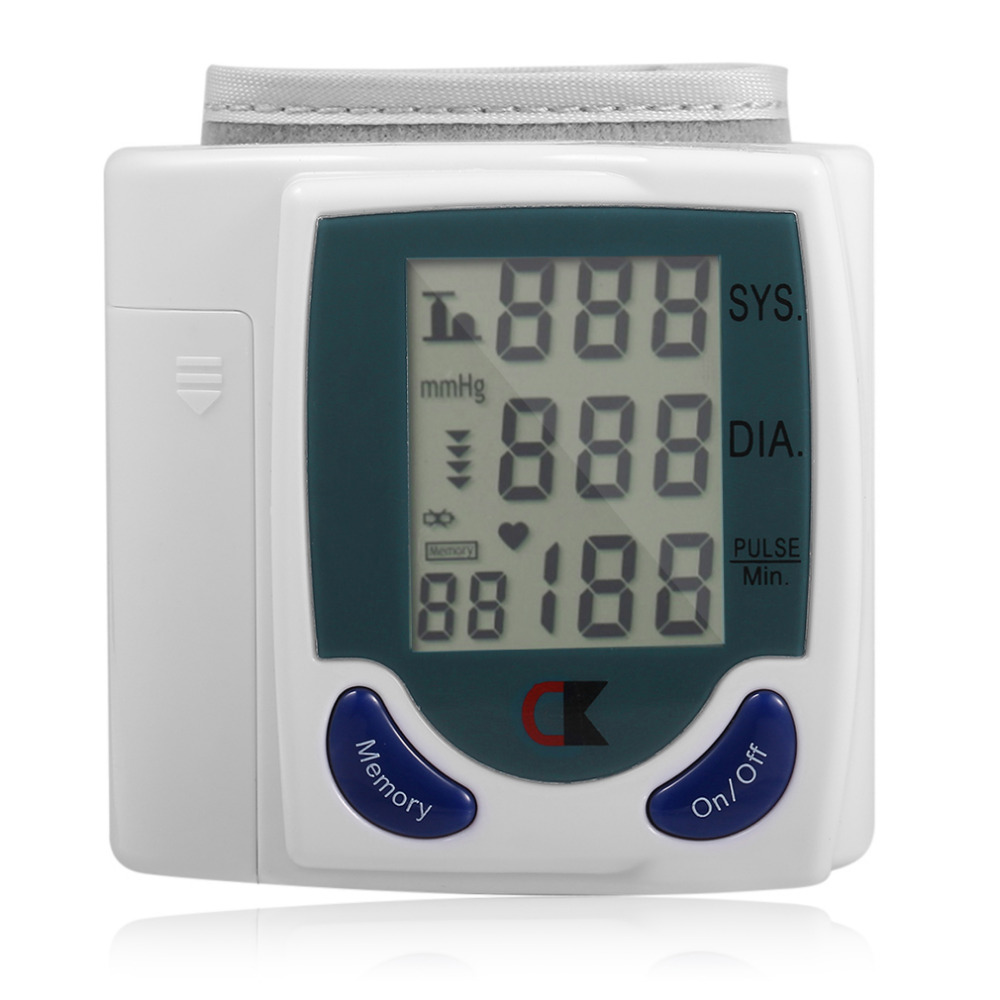 Hot selling home automatic wrist digital LCD blood pressure monitor portable meter free shipping