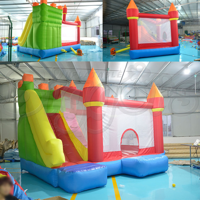 bbd42ad1f YARD Outdoor Colorful Kids Bounce House Combo with Inflatable Slide ...