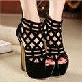 2016 Sexy Women Pumps Pointed Toe High Heels Shoes Woman Lace Up Cutouts Fashion Women Wedding Shoes Sapato Feminino
