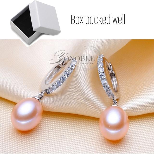 Boucles doreilles de mariage en perles deau douce naturelles femmes, blanc rose 925 en argent sterling perle boucle doreille bijoux pour cadeau danniversaire fille