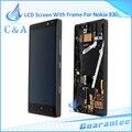 Reparação parte substituição para nokia lumia 930 preto lcd touch screen digitador com frame 1 peça frete grátis