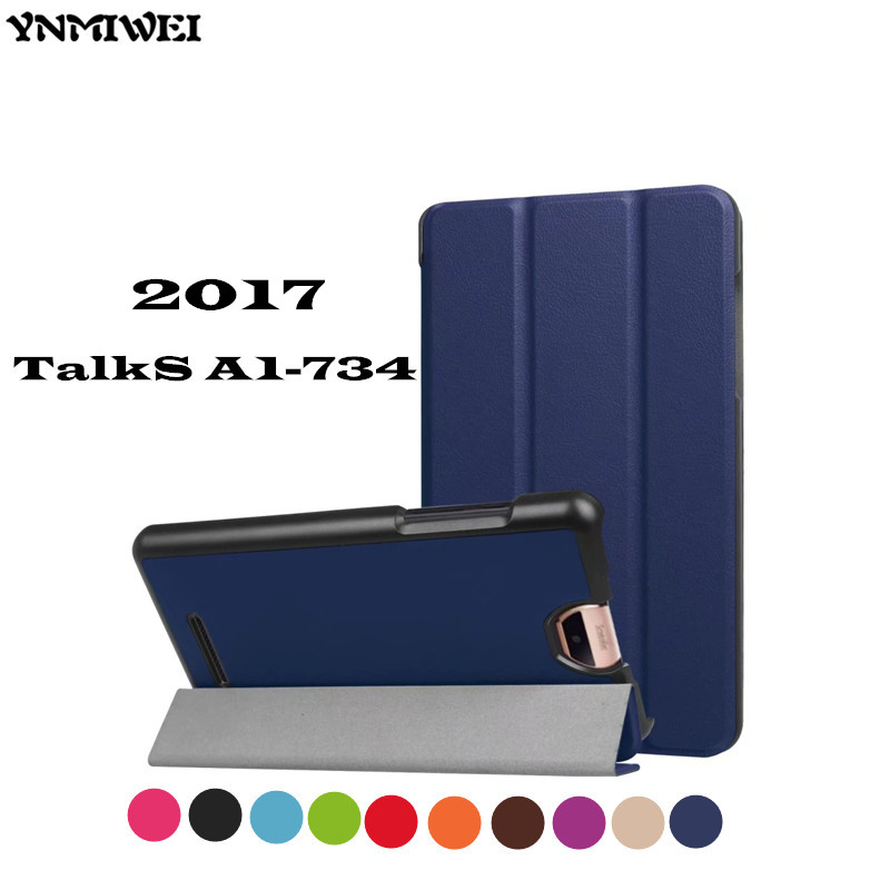 YNMIWEI 7 inch Talks a1-734 tablet cover case For 2017 Acer Iconia TalkS A1-734 magnet leather case 3-Folder flip cases a grip a thick folder word folder a word a clips 4 inch 6 inch 9 inch
