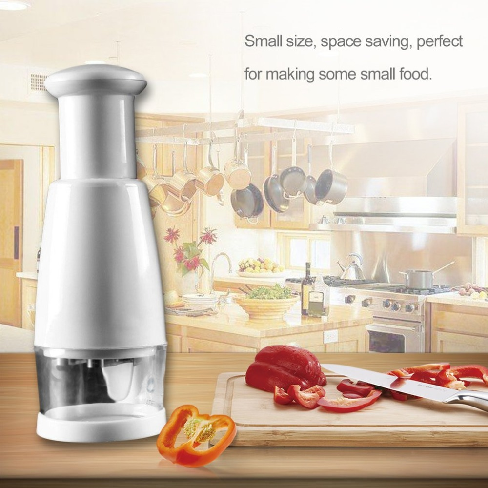 Semi-automatic Stainless Steel Kitchen Pressing Slicer Peeler Dicer Vegetable Garlic Onion Food Chopper Cutter Easy Cooking Tool