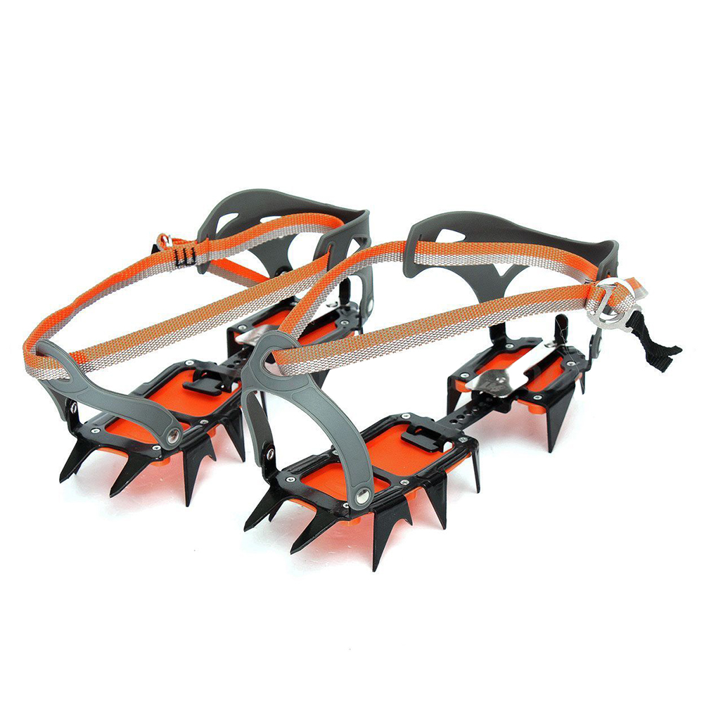 Mountaineering Hiking Crampons 14 Teeth Outdoor Antislip Ice Snow Shoe Spikes quality m l size crampons 8 teeth outdoor mountaineering hiking antislip ice snow spikes shoe crampons shoe spikes skidproof
