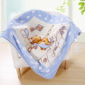 Hot Aden anais bedding baby fleece blanket child blanket baby blanket 100%raschel thicken air-condition cartoon blanket 360g