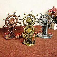 New Products Pilot Rudder Model Metal Crafts Gifts Love Your Office desk decoration  vintage home decor