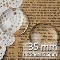 35 ММ Круглый Плоской Задней ясно Хрустальное стекло Кабошон, Высочайшее качество, кабошон; стекло название; продается как 50 шт./lot-C1176