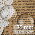 35MM Round Flat Back clear Crystal glass Cabochon,Top quality;cabochon;glass title;sold as 50pcs/lot-C1176