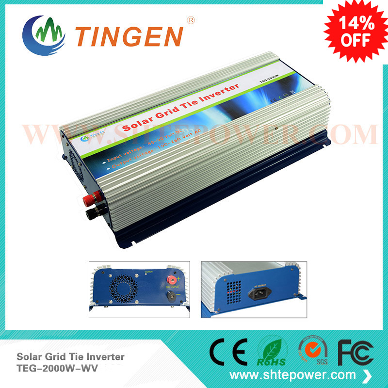 DC 45-90v input 48v use to ac output Grid connected solar panel inverters with mppt funciotn 2000w 2kw new grid tie mppt solar power inverter 1000w 1000gtil2 lcd converter dc input to ac output dc 22 45v or 45 90v