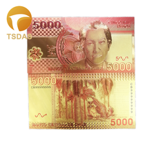 Chile Colored 24K Gold Foil Banknote 5000 Pesos Bills Paper Money for Currency 10pcs/lot Collection