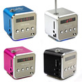 new micro SD TF USB Portable FM Radio With speakers mobile phone vibration computer musicFM Radio  player V26