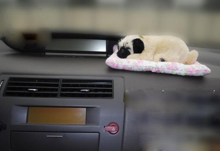 Independent 20x12cm Simulation Sleeping Pekingese With Mat plastic& Furs Dog Sounding Bark Toy Model Car Decoration Xmas Gift W5821 Shrink-Proof