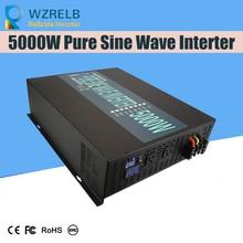 цена на CE EMC approved5000W 12V 220V off-grid DC to AC Full Power household solar power inverter pure sine wave inverter LED Display