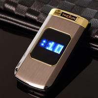 Luxury Original TKEXUN M3 Metal Phone Flip Mobile Phone Standby Vibration Phone Russian French Language TKEXUN