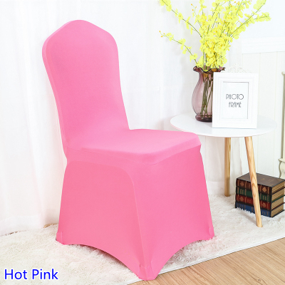 hot pink spandex chair covers ingenuity high 3 in 1 cover colour flat front lycra stretch banquet for wedding decoration wholesale on sale from home garden