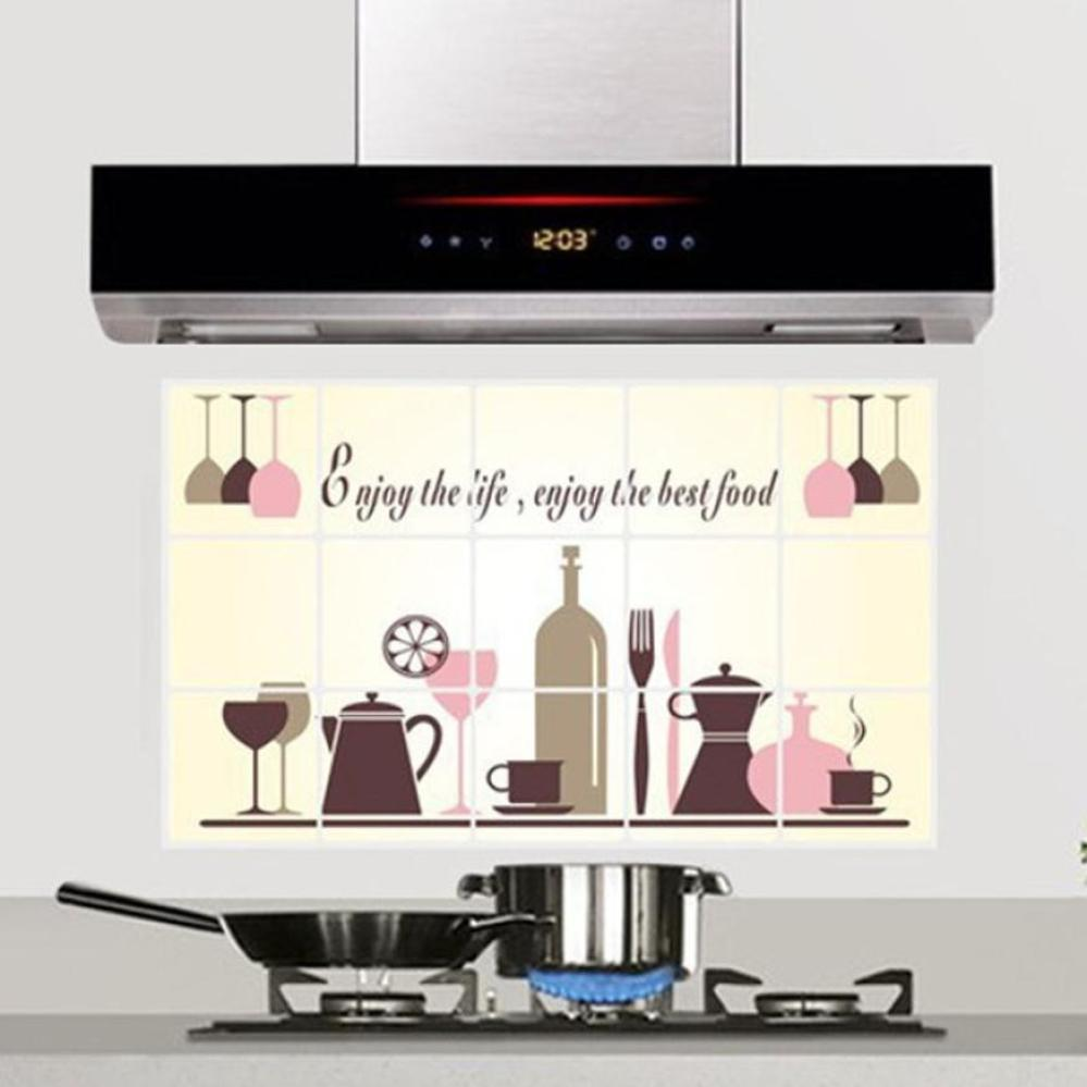 New Pegatinas DIY Kitchen Pattern Removable Vinyl Decal Home Decor Wall Sticker Adesivo De Parede #B