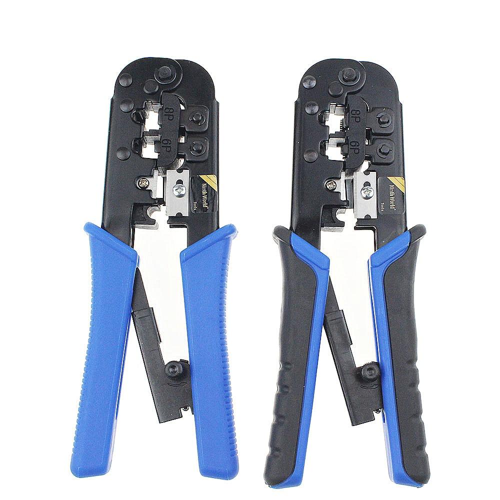 New Modular Telecom Crimping Tool Network Cable Ratchet Crimping Pliers for 4P 6P 8P RJ-11/RJ-12 RJ-45