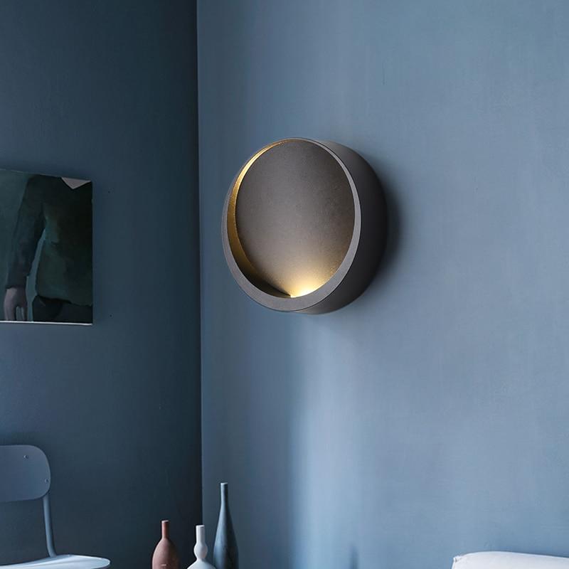Applique murale noir blanc pour la maison chambre chevet applique chambre couloir couloir chaud moderne minimaliste applique murale