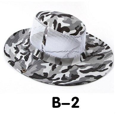 Новые модные камуфляжные летние кепки для мужчин и женщин, мужские круглые шапочки для военного кемпинга, уличная Солнцезащитная шляпа - Цвет: B 2