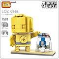 Mini bloques loz estrella r2d2 asamblea figura juguetes para los niños diy bloques de construcción star ladrillos partes r2-d2 robot wars c-3po 1501