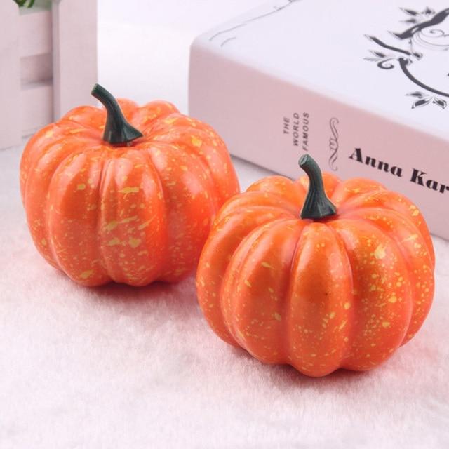 hot 16pcs mini artificial fake foam pumpkin for thanksgiving fall halloween table vase filler diy centerpiece - Fake Halloween Pumpkins