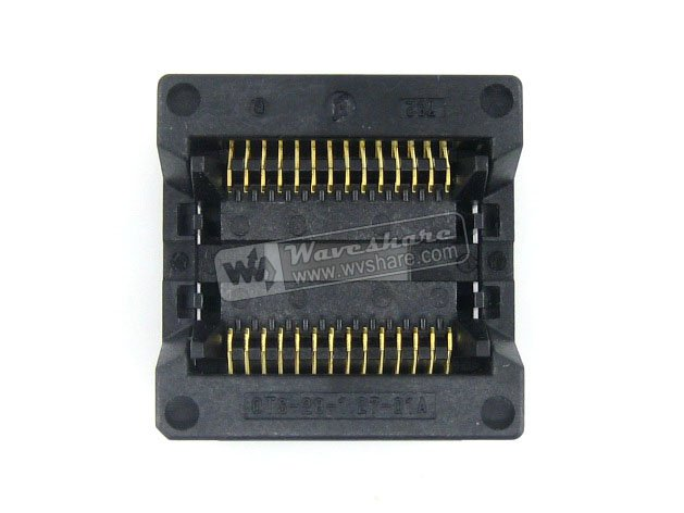 module SOP28 SO28 SOIC28 OTS-28-1.27-01A Enplas IC Test Burn-In Socket Adapter 8.6mm Width 1.27mm Pitch modules sop28 so28 soic28 ots 28 1 27 01a enplas ic test socket programmer adapter 8 6mm body width 1 27mm pitch