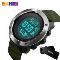 SKMEI Военная Униформа спортивные часы Для мужчин лучший бренд класса люкс электронный светодиодный цифровой наручные часы мужской часы для ...