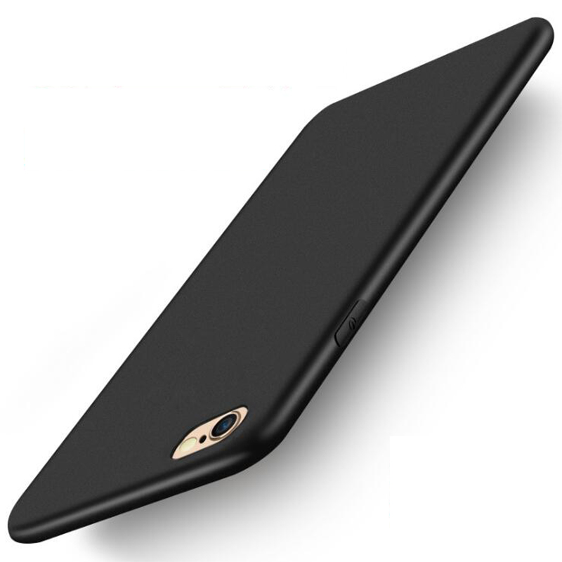 Black Case Soft TPU Silicone Cases For Iphone 5 S SE X Phone Iphone 6S 6 7 8Plus XS Max XR Coque Frosted Fundas