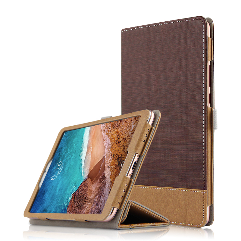 PU Leather Cover Case For Xiaomi Mi Pad 4 Mipad4 Protective Smart Case For xiaomi mi pad4 mipad 4 8 inch Tablet PC case cover case tpu for xiaomi mi pad 4 mipad4 plus 10 1 inch protective shell soft cover for mi pad4 mipad 4 plus 10 tablet pc back case