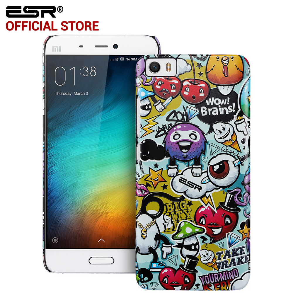 Case for xiaomi 5 ESR Cute Cartoon Case with Aesthetic Print Hard PC Back Cover Anti