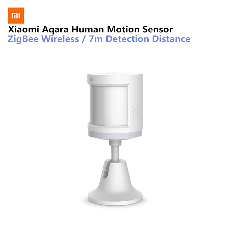 Original Xiaomi Aqara Smart Home Human Body Sensor Security Device with Holder Stand Movement Sense Light intensity detection