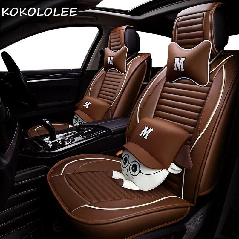 KOKOLOLEE cuoio dell'unità di elaborazione copertura di sede dell'automobile per mercedes mini cooper auto accessori auto-styling car seat protector