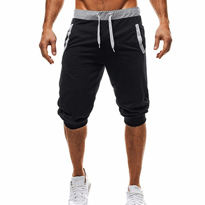 Men s Five Point Pants Knee Length Casual Pants Sweat Pant font b Slim b font