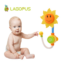 lagopus Bath Toys for Children Sunflower Shower Spray Water Baby Bath Faucet Funny Water Game Summer Play Toy Gift for Kids kids shower bath toys cute duck waterwheel dolphin baby faucet water spraying wheel type dabbling sunflower crab children gift