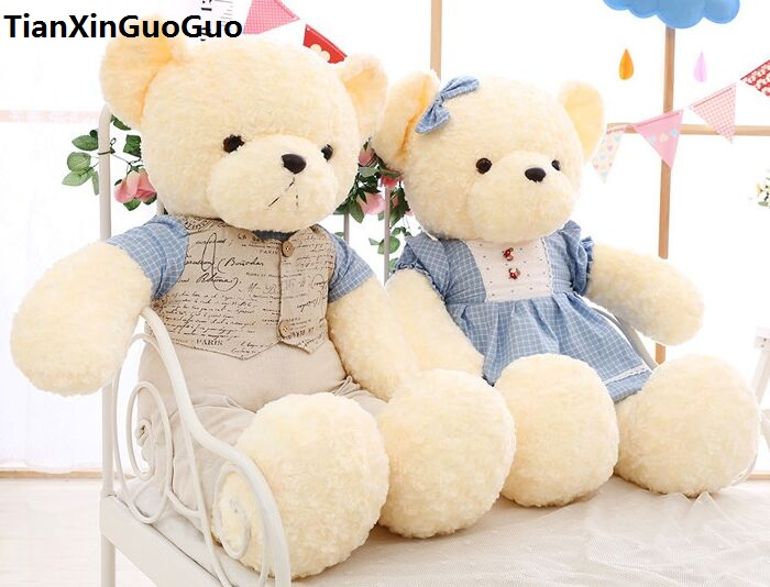 large 70cm dressed clothes teddy bear, couples love bears plush toy soft doll throw pillow propose,birthday ,wedding gift w2702 large panda in pink coat about 70cm plush toy panda doll soft throw pillow birthday gift x029
