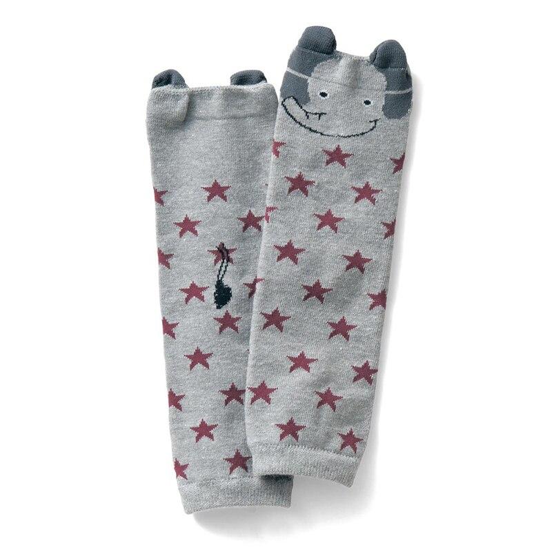 1 Pair Baby Knee Pads Leg Warmers Cartoon Soft Cotton Baby Kids Winter Leg Warmers Socks Child Knee Pads Gray Knee Baby