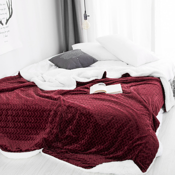 Doppel Gesicht Winter Warme Fleece Flanell Sherpa Decke Faux Pelz Nerz Werfen Bettdecke Für Einzigen Doppelbett Erwachsene Plaid Decken