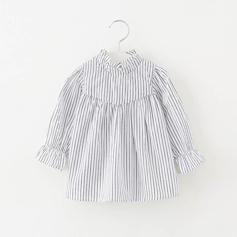2019 Mode Baby Mädchen Blusen 2018 Neue Mode Baby-kleidung Langarm Mädchen Tops Shirts Baumwolle Infant Bebes Hemd Kleinkind Mädchen Kleidung