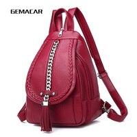 Vrouwelijke Rugzak Designer hoge kwaliteit Leer Vrouwen Tas Mode Schooltassen Grote Capaciteit Rugzakken Reistassen