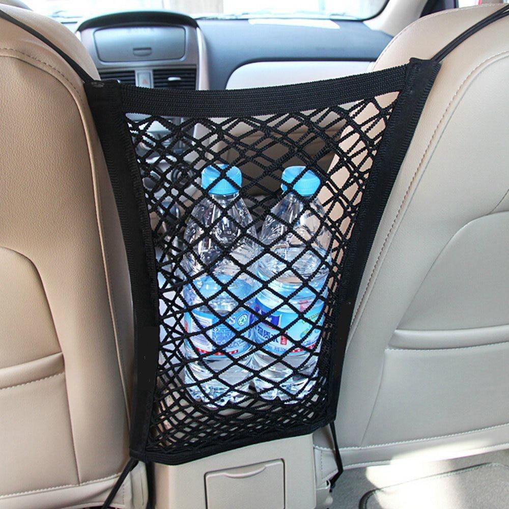 Universal 24X29cm Nylon Elastic Mesh Net Between Car Seat Back Storage Mesh Net Bag Luggage Holder