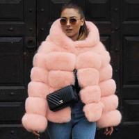 manteau fausse fourrure women fur coat 2018 Autumn and winter fashion imitation rabbit fur jacket coats Female colored fur coas