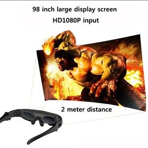 Image 4 - Nowe okulary wideo FPV 3D 2 metry odległość 98 cali wirtualny wyświetlacz duży ekran obsługujący wejście IOS i Android HD 1080P