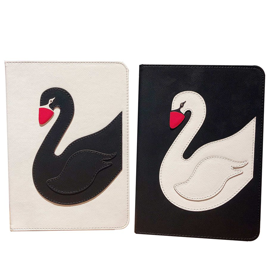 Pro 9.7 /ipad 9.7 2018 Exquisite Traditional Embroidery Art Nice For Ipad 9.7 2017 Case 3d Tailored White Black Swan Stand Protective Tpu Cover For Ipad Air Air 2
