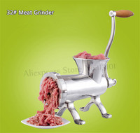 32# Hand Operated Meat Grinder Heavy Duty Commercial Manual Meat Mincer Stainless Steel Multipurpose Beef Pork Grinder Machine