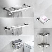 Towel Rack SUS 304 Stainless Steel Bathroom Hardware Set Chr