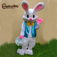 Cosplaydiy Hot Cakes Professional Easter Bunny Mascot Costume Bugs Rabbit Hare Easter Adult Mascot Suit Custom Made
