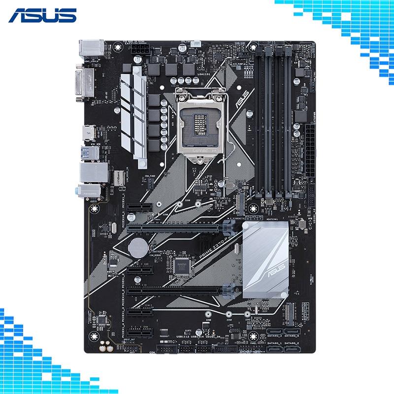 Asus PRIME Z370-P Desktop Motherboard Intel Z370 Chipset Socket LGA 1151 8th GenCore i7/i5/i3/Pentium/Celeron ATX asus h110m k desktop motherboard intel h110 chipset socket lga 1151 micro atx
